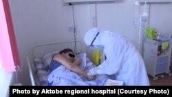 Областная больница в Актобе, «красная зона».