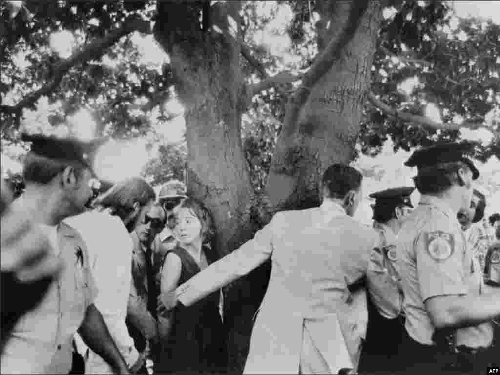 "In 1975, President Gerald Ford had guns drawn on him twice in one month. - On September 5, 1975, Lynette ""Squeaky"" Fromme (center left above) was subdued by a Secret Service agent after she pointed a pistol at Ford, who was visiting Sacramento, California. On September 22, 1975, Sara Jane Moore fired a single shot at Ford during a visit to San Francisco. The bullet missed Ford."