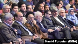 Iranian foreign minister Mohammad Javad Zarif in a political congress of Voice of Iranians political party on Friday Dec 14, 2018.