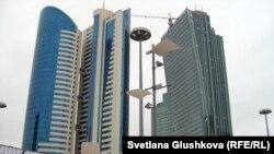 """""""Қазақстан темір жолы"""" ұлттық компаниясының бас кеңсесі, Астана. (Көрнекі сурет)."""