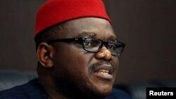 На снимке: министр здравоохранения Нигерии Онейбучи Чукву