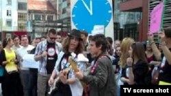 Protest srednjoškolaca u Sarajevu, 26. april 2012.
