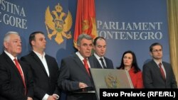 Predstavnici opozicionih stranaka u Crnoj Gori