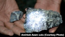 Сымаптын минералы. Чаувай кени, Ак-Терек шахтасы.