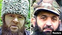 Doku Umarov (left) is accused by Aslambek Vadalov and two other commanders of being an inconsistent and autocratic leader.