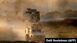 Американский конвой на территории Сирии