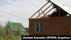Один из жилмассивов на окраине Бишкека.