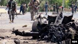 Pamje pas sulmit të sotëm të militantëve në Kandahar