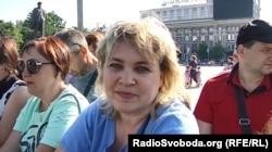 Жителька Донецька під час параду: «У мене дід, прадід, всі воювали, син бере участь у параді, продовжує справу»
