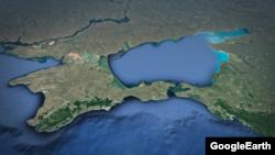 Карта Криму, Азовське море, Керченська протока