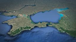 Map of Crimea, Sea of Azov, Kerch Strait