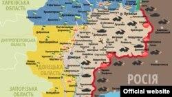 Сытуацыя ў зоне баявых дзеяньняў на Ўсходзе Ўкраіны