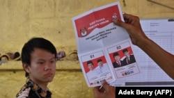 Подсчет голосов в Индонезии, Джакарта. 17 апреля 2019 года.