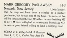 Mark Paslawsky's West Point Yearbook photo from 1981 (E-Yearbook.com)