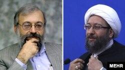 صادق لاریجانی، رییس قوه قضاییه و محمد جواد لاریجانی، دبیر ستاد حقوق بشر قوه قضاییه