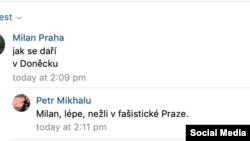 Петр Міхалу каже, що в Донецьку краще, ніж у «фашистській Празі»