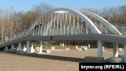 Копия Керченского моста в Комсомольском парке