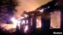 Пожар в психиатрической больнице на окраине Москвы. 26 апреля 2013 года.