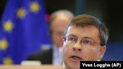 Comisarul pentru zona Euro și dialog social, Valdis Dombrovskis