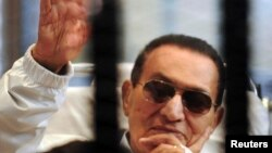 Бывший президент Египта Хосни Мубарак. Каир, 13 апреля 2013 года.