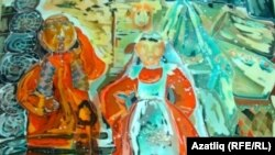 """Күргәзмәдә тәкъдим ителгән """"Себер татарлары"""" рәсеме"""