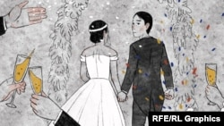 The Kazakh couple's union was registered as a marriage between a man and a woman.