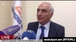 Председатель Демократической партии Армении Арам Саргсян на встрече с журналистами, Ереван, 10 ферваля 2017 г.