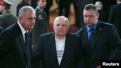 Михаил Горбачев на похоронах Евгения Примакова