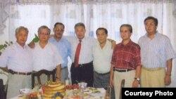 Экс-президент Кыргызстана Курманбек Бакиев с братьями.