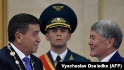 Сооронбай Жээнбеков менен Алмазбек Атамбаев. 24-ноябрь, 2017-жыл.