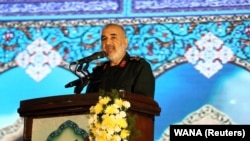 """IRGC commander Hossein Salami says Iran """"is engaged in a biological battle."""" (file photo)"""
