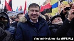 Михаил Саакашвили Петр Порошенкоға қарсы наразылық акциясында. Киев, 4 ақпан 2018 жыл.