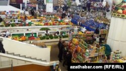 Продовольственный рынок, Ашхабад.