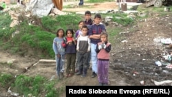 Macedonia - Roma children in the settlement Trizla in Prilep, May2012