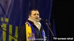 Vlad Filat la Euromaidan, Kiev, decembrie 2013