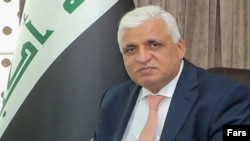 Faleh al-Fayyadh, the head of Iraq's paramilitary Shiite forces. File photo