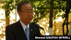 UN Secretary-General Ban Ki-moon honors the memory of those killed in Kyrgyzstan's Osh region in 2010 -- one of the few things Uzbek media reported.