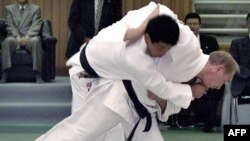 The Russian president has always used his judo prowess to boost his macho profile.