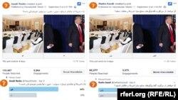 تصاویر نظرسنجی رادیو آزادی در صفحههای فیسبوک و توییتر