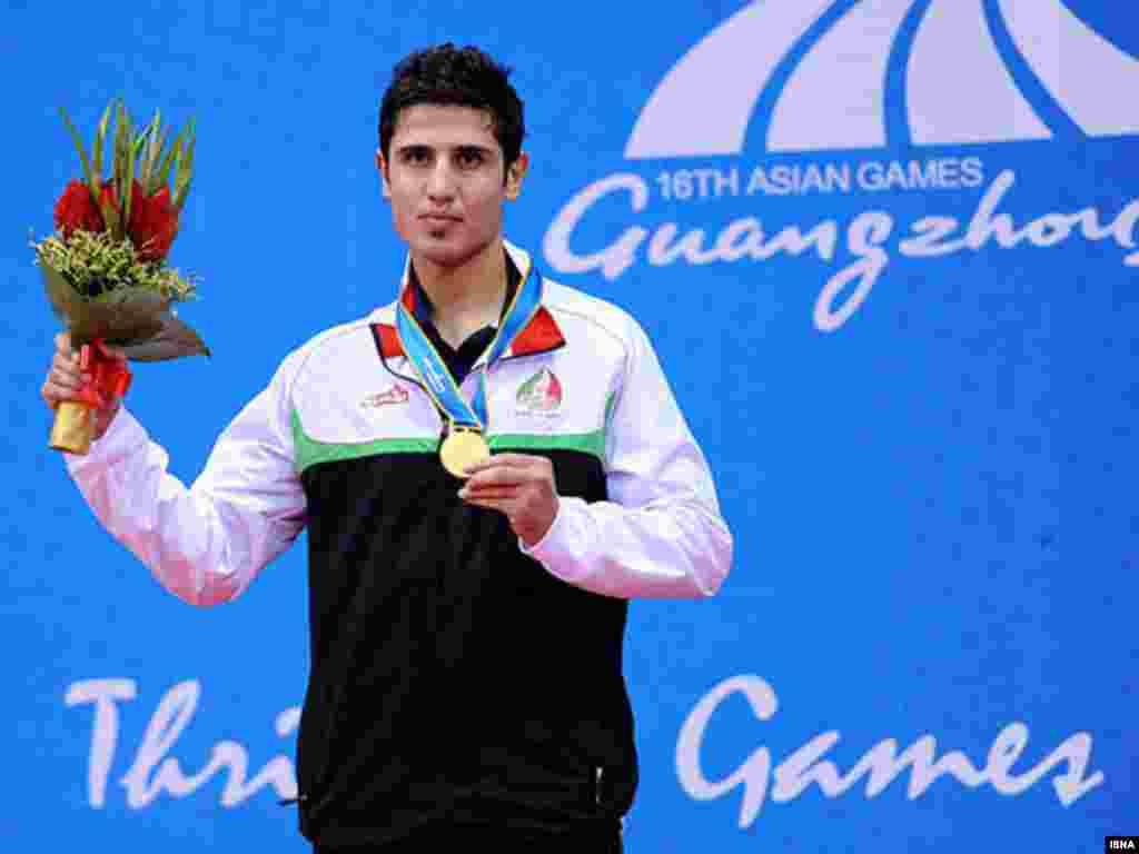 حمیدرضا قلیپور ، برنده مدال طلای رشته ووشو - گوانگژو، چین