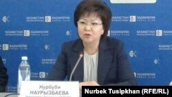Нұрбүбі Наурызбаева, БЖЗҚ басқарма төрайымы. Алматы, 26 сәуір 2017 жыл.