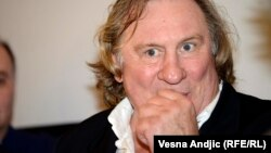 "A Russian opposition party has rejected claims that French actor Gerard Depardieu is running as its candidate for governor of a Siberian region, dismissing the allegation as an ""unfortunate joke."""