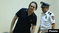 Armenia - Opposition activist Andrias Ghukasian goes on trial in Yerevan, 2Aug2017.