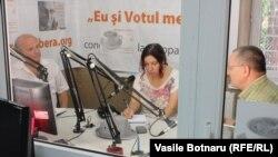 În studioul Europei Libere la Chișinău