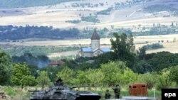 Русия гаскәрләре Тифлистән 30 км чамасы Каспи авылы янында