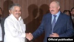 Беларус Президенти Александр Лукашенка ва Куба Вице президенти Дагоберто Родригез.