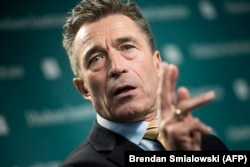 Former NATO chief Anders Fogh Rasmussen (file photo)