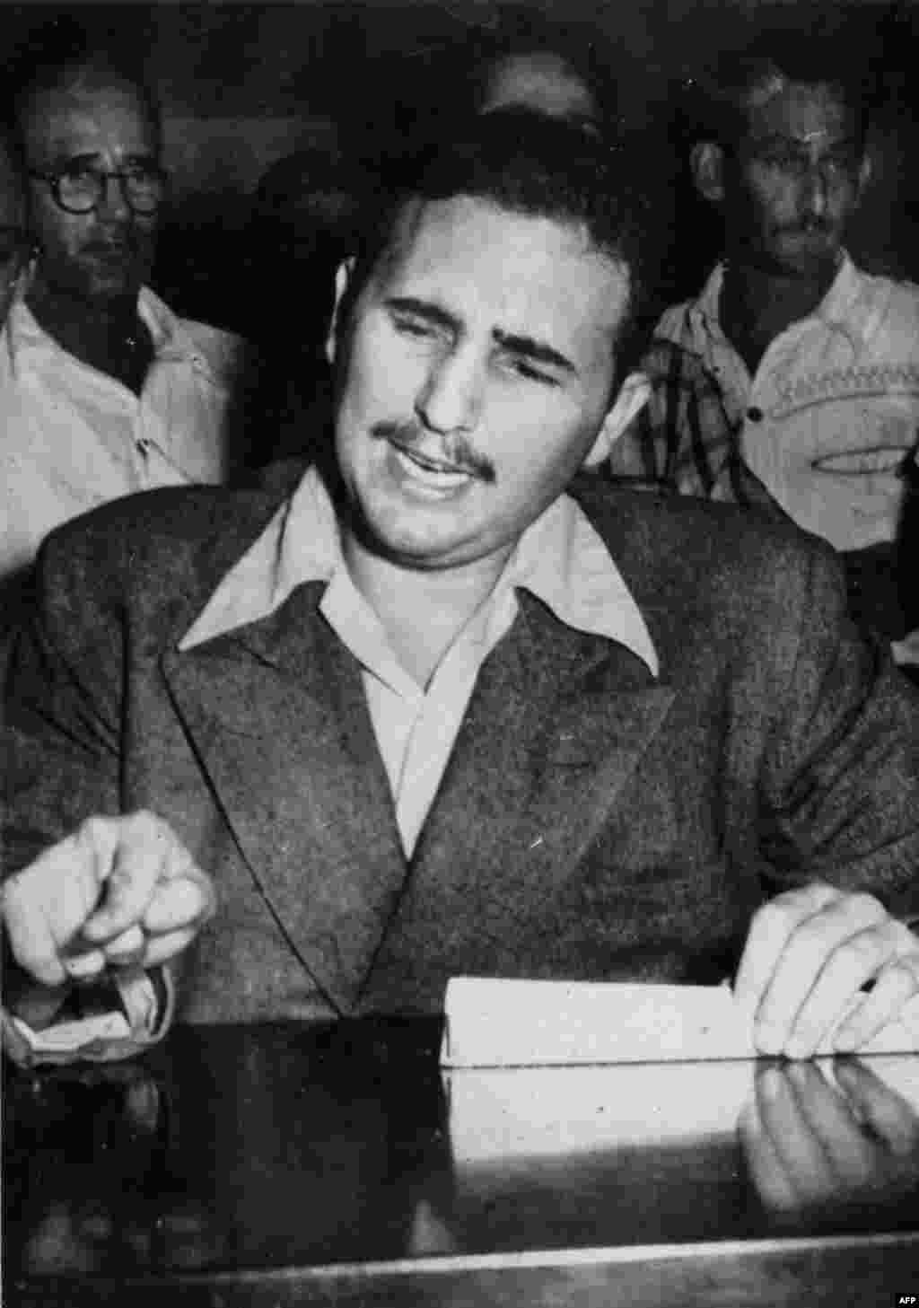 Fidel Castro as a young Marxist activist in 1953.
