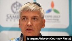 Главный тренер сборной Казахстана по плаванию Олег Вагизов.