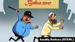 İslam Oyunları. Karikatura. Gündüz Ağayev.